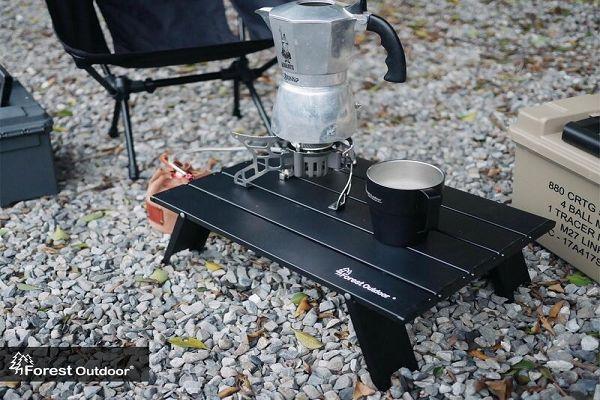 Forest Outdoor輕量鋁製登山小桌 便攜式蛋捲桌 沉穩黑  售:360元 1