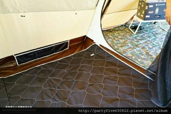 [LOWDEN客製化地墊] 彩繪天空2D帳 寢室區 全舖棉防潑水地墊(帳內用) 六角地墊 1